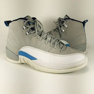 the latest d85e0 98d62 Image is loading Nike-Air-Jordan-12-XII-Retro-UNC-Wolf-