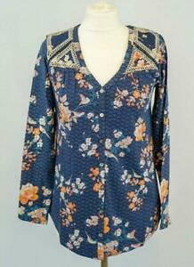 NEW-Monsoon-Navy-Floral-Embroidered-Long-Sleeve-Top-RRP-45-Now-20-Save-25