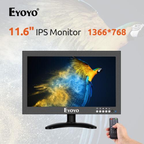 "12/"" Inch IPS Monitor 170°Wide Viewing 16:9 1366x768 VGA//AV//BN for Raspberry Pi"