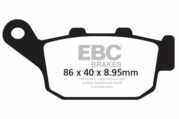 Compatibili con Honda Ctx 700 N-Dct 14>15 EBC Semi-Sinterizzato V Set Pastiglie