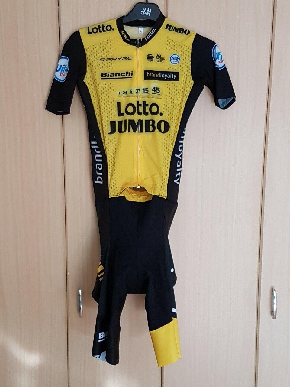 Oorspronkelijke Shimano Lotto Jumbo 2018 Sprintanzug Stef Clemannent (S)
