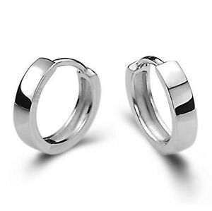 925-Sterling-Silver-Huggie-Hoop-Clip-Stud-Earrings-Womens-Girls-Jewellery-Gift