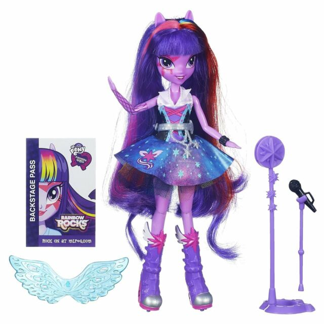 My Little Pony Equestria Girls Twilight Sparkle Rocks/Sings Doll/Microphone, 6+