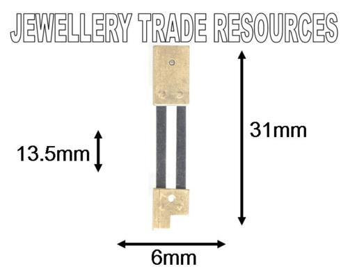 CLOCK SUSPENSION SPRING TOP QUALITY STEEL /& BRASS 31mm Long x  6mm Wide