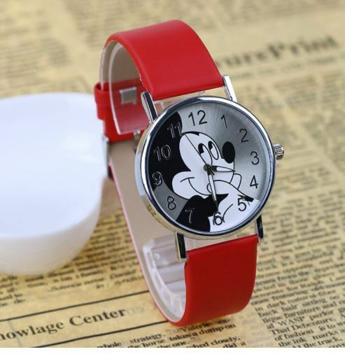 Mickey Mouse Watch Value >> Women Mickey Mouse Watch Vintage Disney Watches Leather Quartz Wristwatch Lorus