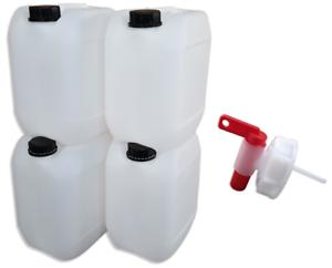 10 Liter Kanister natur mit Hahn
