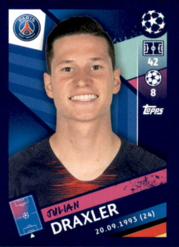 Topps Champions League 18//19 Sticker 322 Julian Draxler