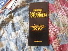 1980 PITTSBURGH STEELERS SUPER BOWL MEDIA GUIDE 1979 LA RAMS XIV 14 NFL AD