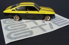 """AUFKLEBER SCHRIFTZUG GT/E für Opel Kadett GTE C Coupe """"MADE in GERMANY""""  01-99"""