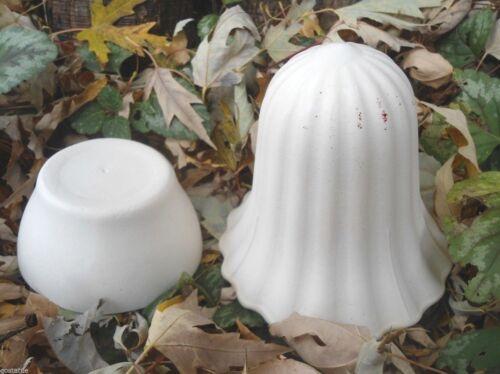 Poly plastic 2 piece stripe mushroom garden mold plaster concrete casting mould