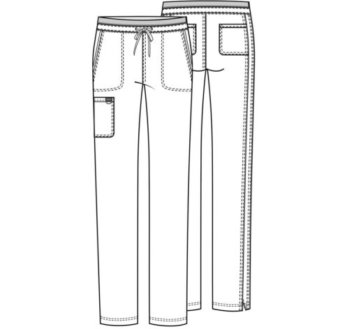 Details about  /Cherokee Workwear Scrubs Tapered Leg Drawstring Tall Pant WW105T PWT Pewter