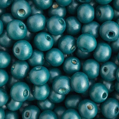 dark-petrol-blue Holzperlen 50 Stück Ø 8 mm 50134 MiPerla