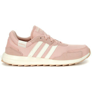 Adidas Women's Essentials Retrorun Pink Spirit/Cloud White Casual Running Sho...