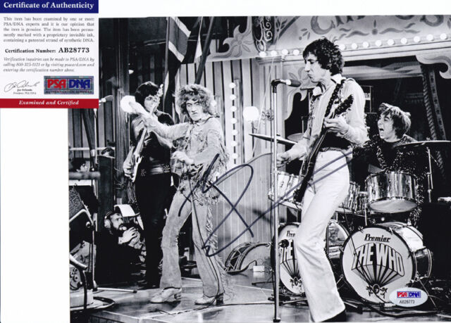 PETE TOWNSHEND THE WHO SIGNED AUTOGRAPH 8X10 PHOTO PSA/DNA COA #2