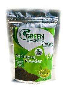 Details About Bhringraj Powder Natural Hair Loss Growth Treatment Shining Black Hair 100g