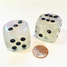 Chessex Borealis Aquerple d6 Dice - Pair of 30mm d6 dice - Rare! Out of Print!