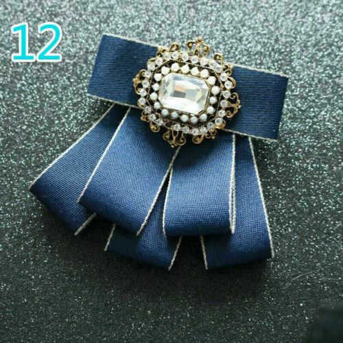 Retro Schleife Krawatte Gebunden Kristall Perlen Formell Hochzeit Party Chic