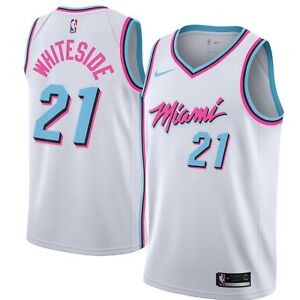 new concept 27b13 97250 Details about New Nike 2018 NBA Miami Heat Hassan Whiteside #21 City  Edition Swingman Jersey
