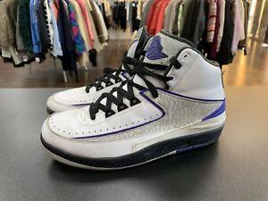 bd60ed2753a Nike Air Jordan 2 Retro 385475 153 White Concord Black Size 8   eBay
