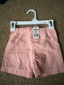 Carters-Baby-Girl-Shorts-Carter-039-s-Size-18m-Pink-White-Striped-Bottoms-Summer