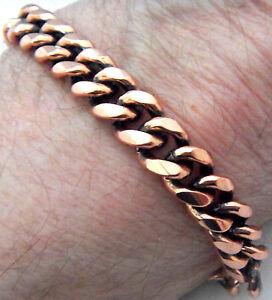 Copper-Bracelet-8-1-8-034-Linked-Wheeler-Sciatica-Arthritis-Healing-Folklore-cb-284