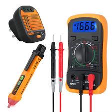 Digital Multimeter Non Contact Voltage Detector Tester Pen And Socket Tester Kit