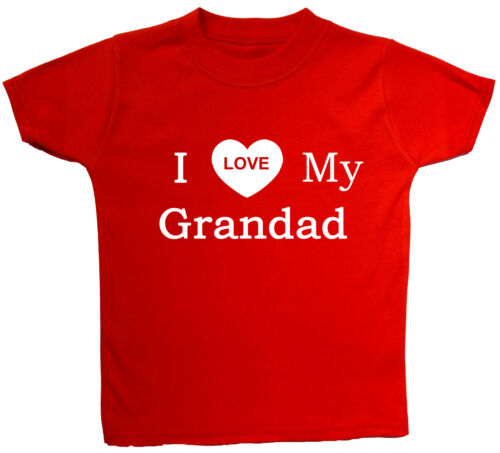 I Love My.. Your Wording Baby Children/'s T Shirt Top 0-3Mth to 5-6 Years Gift