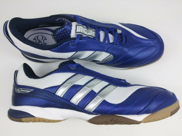 Adidas Mens Rare Top Sala Vll 012231 Blue White Indoor Soccer Shoes Size 10.5
