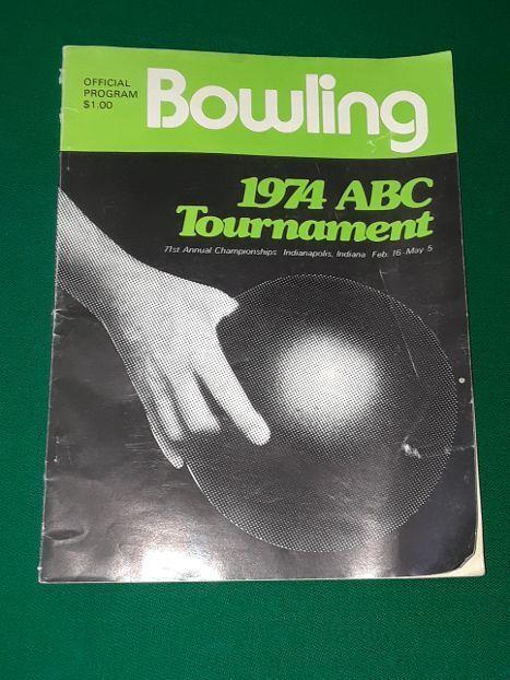 Vintage 1974 Bowling Official Program