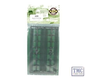 245 Ratio GWR Spear Fencing, Black, Straights N Gauge Plastic Kit