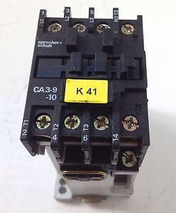 SPRECHER CONTACTOR WITH RELAY CA3-9C CA3-9-10
