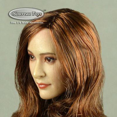 TBLeague 1//6 Phicen Gac femelle asiatique Auburn Cheveux Pâle Couleur Head Sculpt KUMIK