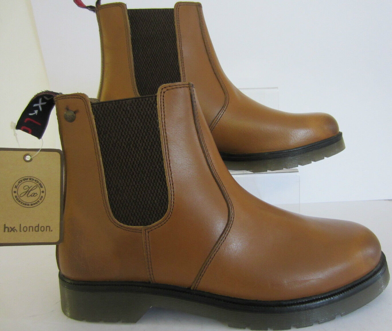 Hx, london Mens Smart Chelsea Boot (01700) Tan Sizes 7 x 10 & 42 (MR)
