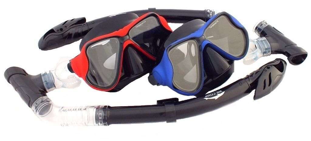 For HIM & HER Snorkelling Diving Masks and Dry Snorkels Sets WIL-DS-12RR &12BR