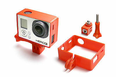 Frame Mount Tripod mount for GoPro Go Pro HD HERO 3 Black Accessory Adapter Red
