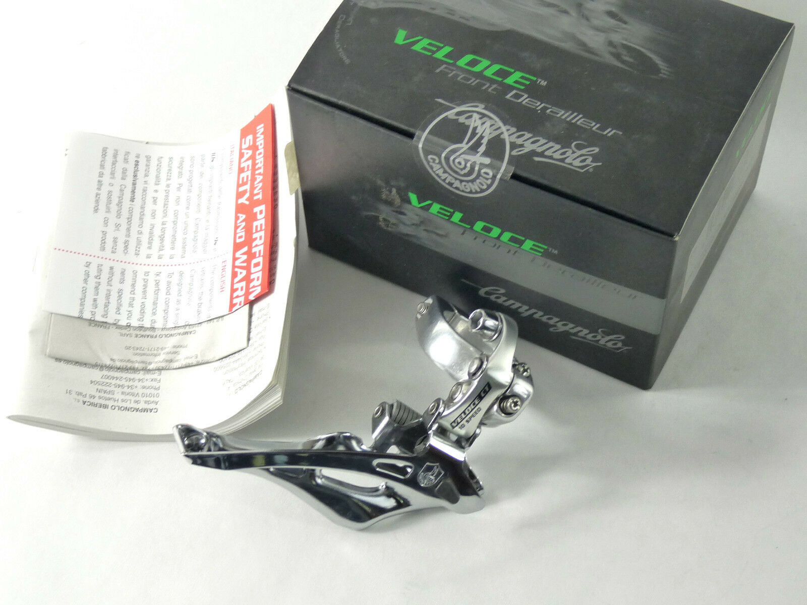 Campagnolo Veloce compact derailleur 10 speed 32mm front Road Bike NOS