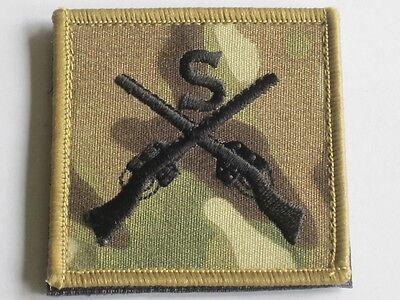 Sniper, Scharfschütze,Stoffabzeichen schwarz/MTP,Gewehre & S,Klett,Multicam