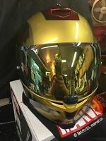 Hjc Is-17 Iron Man Marvel Helmet Gold Mirrored Shield Only Helmet Not Included