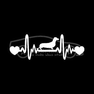 DACHSHUND-HEARTBEAT-Sticker-Wiener-Heart-Decal-Dog-Breed-Love-Weenie-Dachsy-Cute