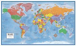 Oversized World Map Extra Large Giant Political Globe Big Wall ...