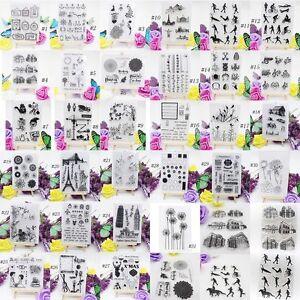 1PC-Bricolaje-Sellos-Transparentes-Scrapbooking-Hoja-Clara-Goma-De-Silicona