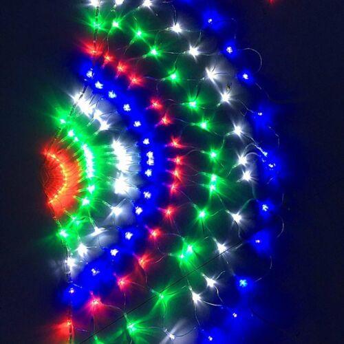 3M 444LED Peacock Curtain Icicle String Light Christmas Mesh Net Fairy 110//220V