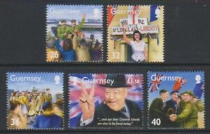 Guernesey-2005-Memoires-De-WWII-Liberation-3rd-Series-Ensemble-MNH-Sg