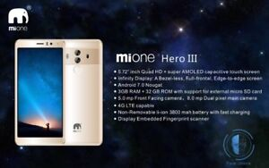 """Details about Brand New MiOne Hero 3, 4G, Dual Sim, 32GB ROM, 3GB RAM, 5 7""""  IPS Au Seller Syd"""