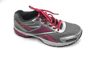 Reebok-size-8-5M-silver-pink-womens-ladies-running-tennis-athletic-shoes-V59329