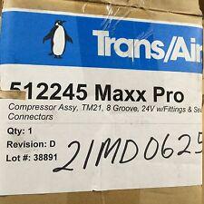 24V TRANS AIR CONDITIONER TM21 AC COMPRESSOR 3791247C2 TRUCK MRAP R134A
