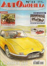 AUTOMOBILIA 11 MATRA 530 BUGATTI 57 INITIALE 1933 35 TOURISMES MILITAIRE 40 44