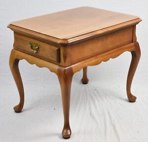 Queen Ann Sidetable.Details About Harden Solid Cherry Queen Anne Side Table