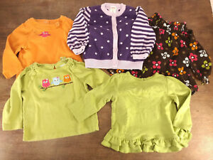 708490aa1 Baby Toddler Girl s Clothes Gymboree Fall Winter Lot Shirts Cardigan ...
