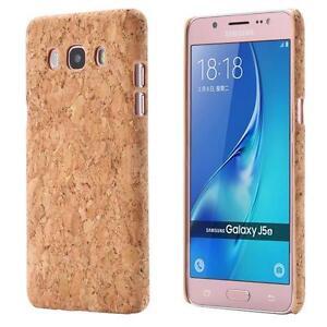 Samsung-Galaxy-J5-2016-CORCHO-FUNDA-MADERA-NATURAL-HARD-CASE-CASO-COVER-CAJA